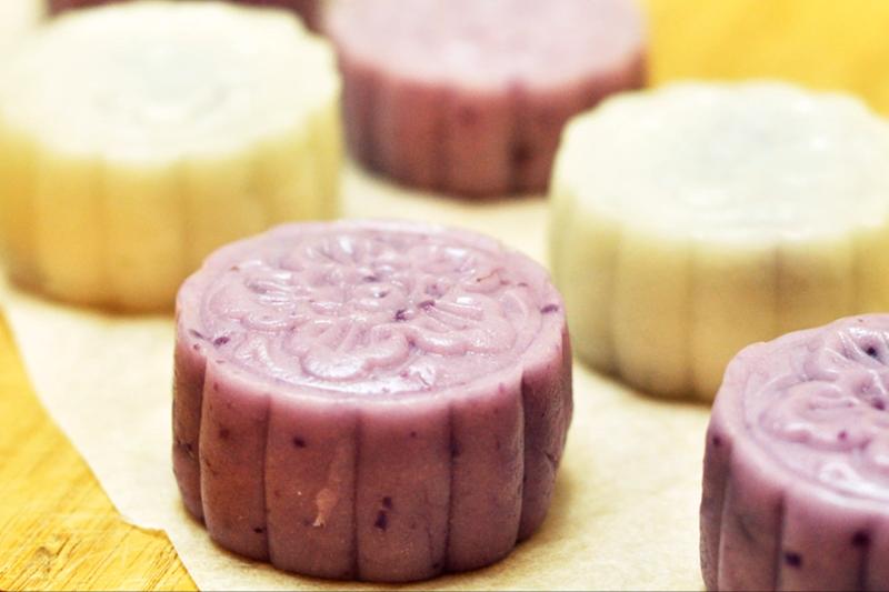 【有片】有營食譜:50卡紫薯冰皮月餅1