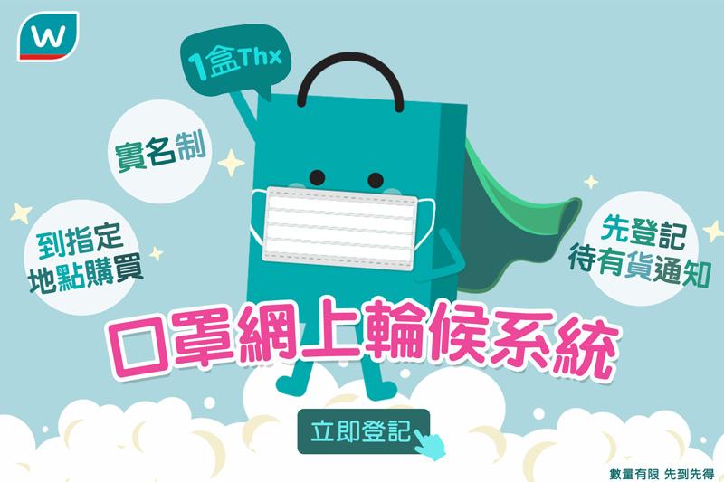 屈臣氏網上實名登記買口罩 最高峰149萬人輪侯