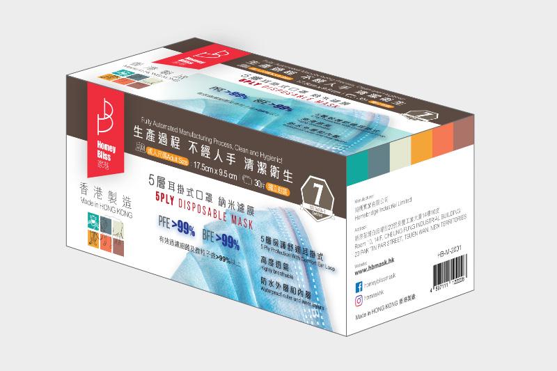 【口罩供應】港產「家港口罩」6月22日開售五層納米濾膜口罩 每盒$130/30個