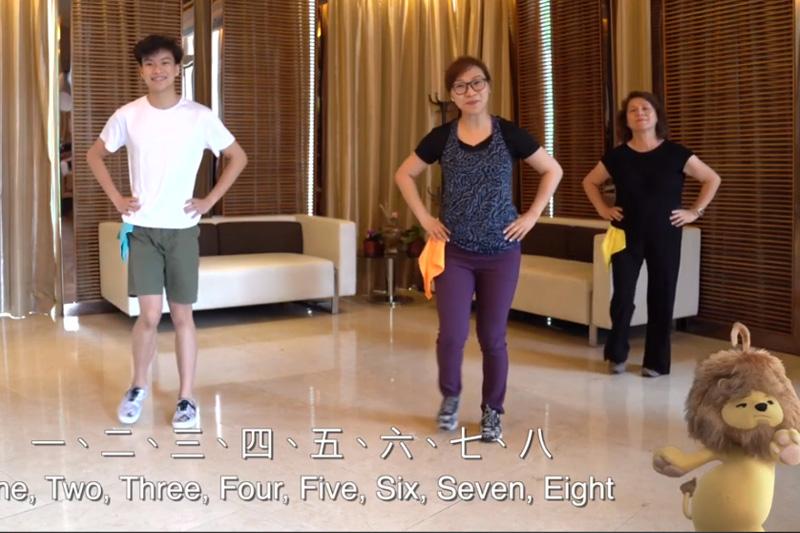 衛生防護中心短片示範家居健體操 鼓勵市民在家做運動