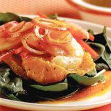 香橙菠菜大蝦沙律