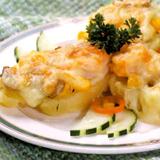 香草甜蝦粟米薯堡