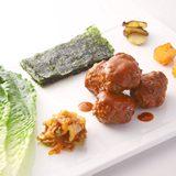 有機牛肉丸泡菜及生菜卷